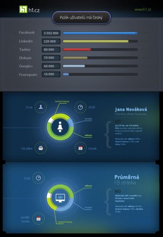 Sociální sítě v ČR - infografika