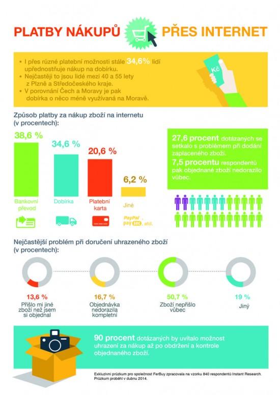 Platby nakupu pres internet - infografika