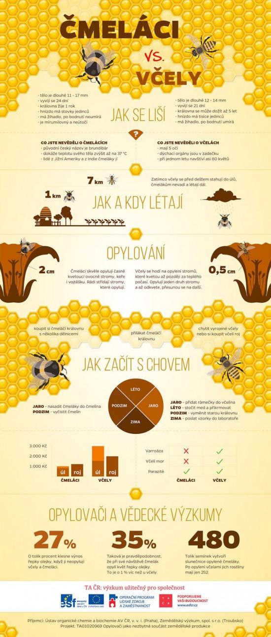 vcely a cmelaci infografika
