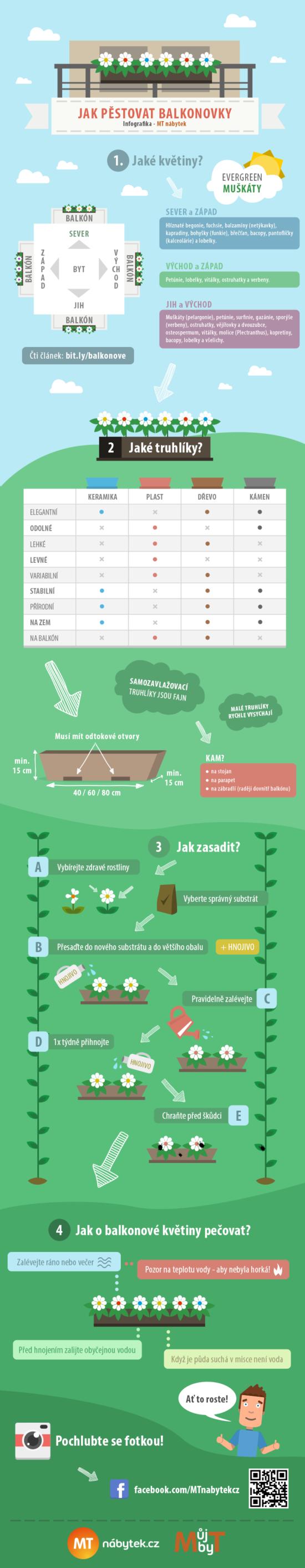 Jak na pěstování balkonovek? – Infografika