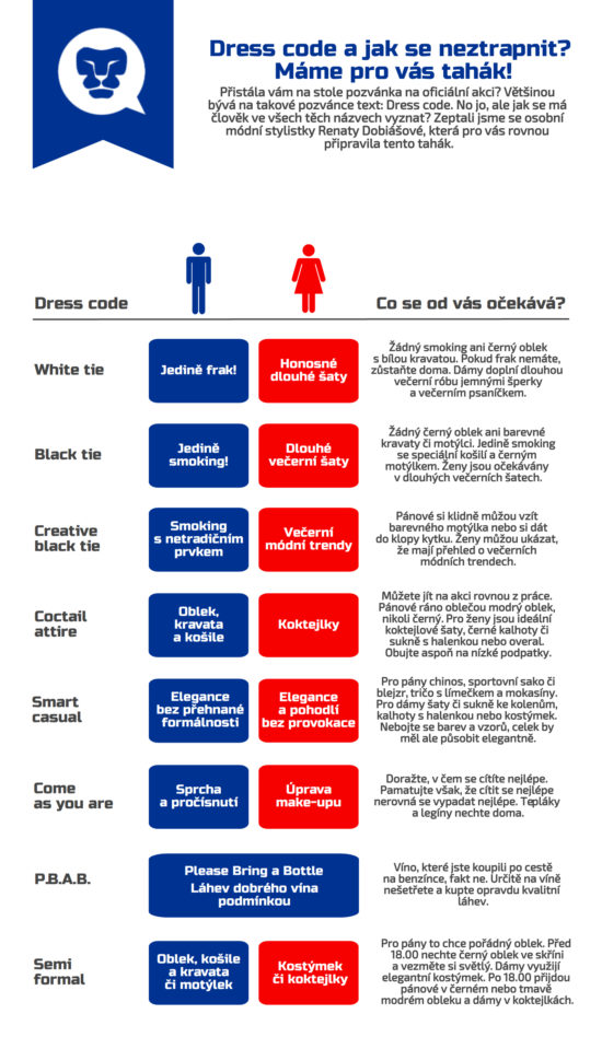 Co si obléct, když je vyžadován dress code?